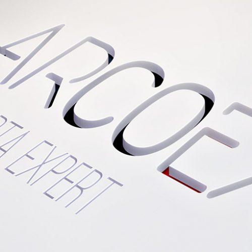 Arcoex mockup logo